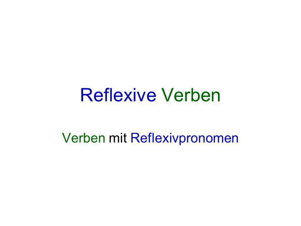 Verben mit Reflexivpronomen