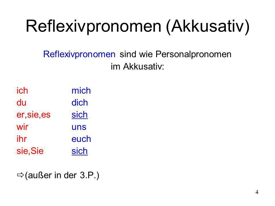 Reflexivpronomen (Akkusativ)