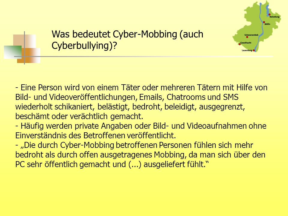 Was bedeutet Cyber-Mobbing (auch Cyberbullying)