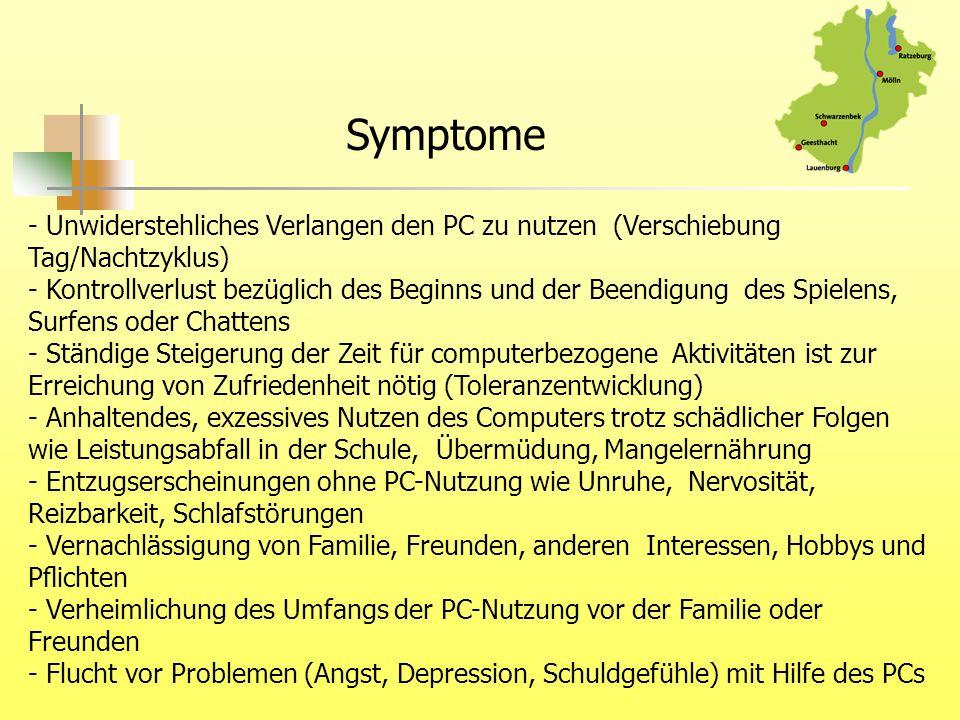 Symptome - Unwiderstehliches Verlangen den PC zu nutzen (Verschiebung Tag/Nachtzyklus)