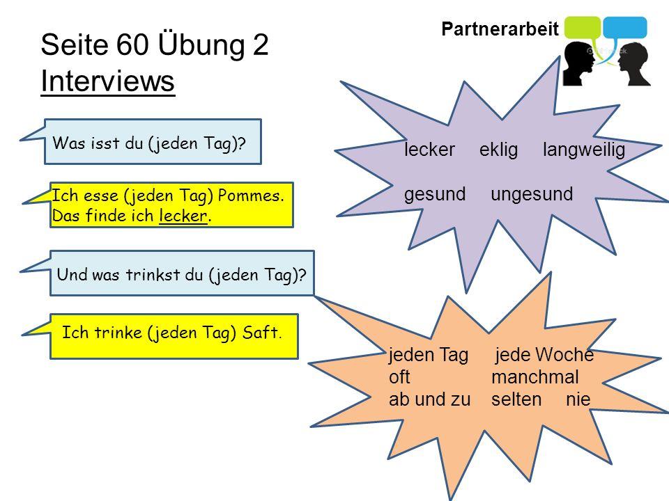 Seite 60 Übung 2 Interviews