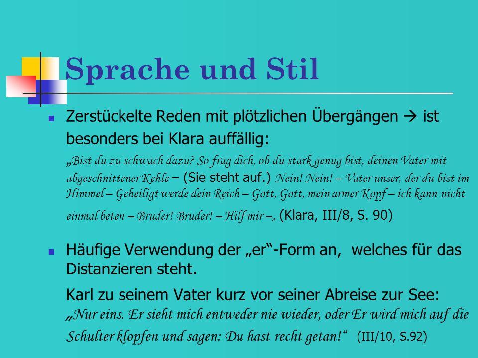 Sprache und Stil