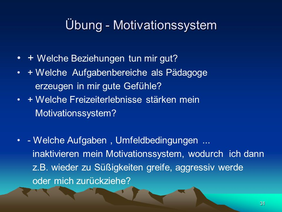 Übung - Motivationssystem
