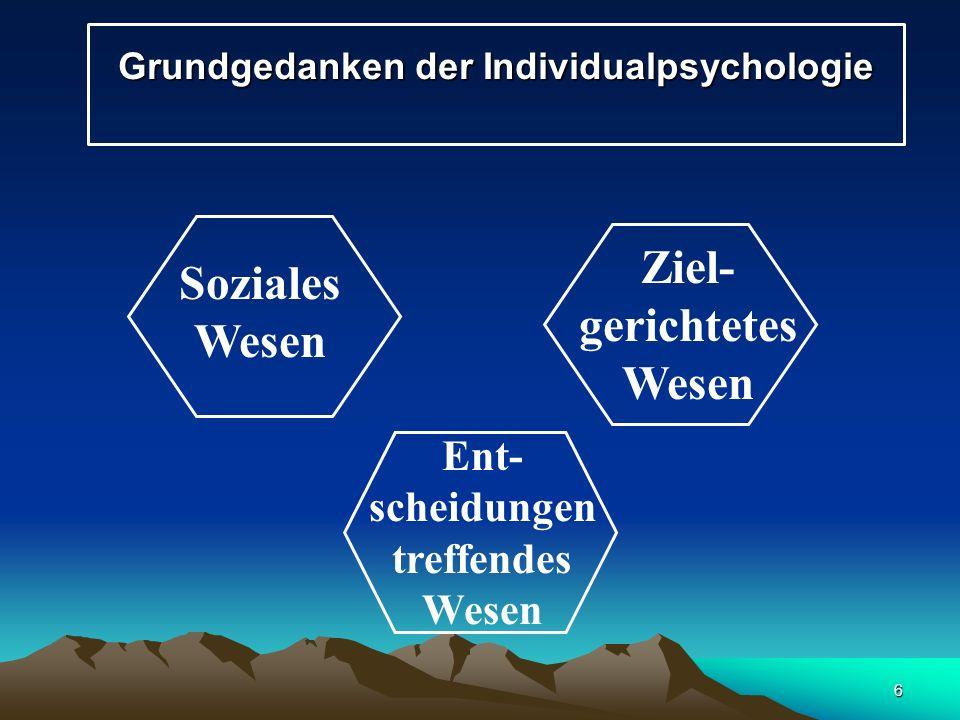 Grundgedanken der Individualpsychologie