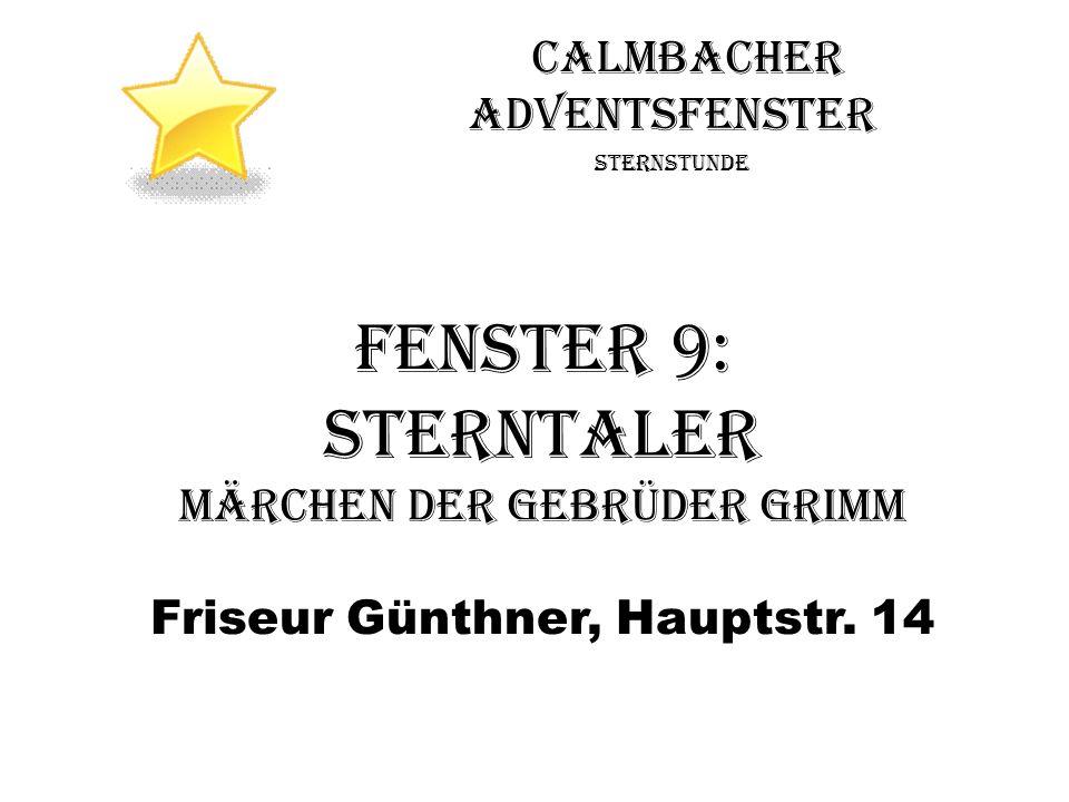 Fenster 9: Sterntaler Calmbacher Adventsfenster