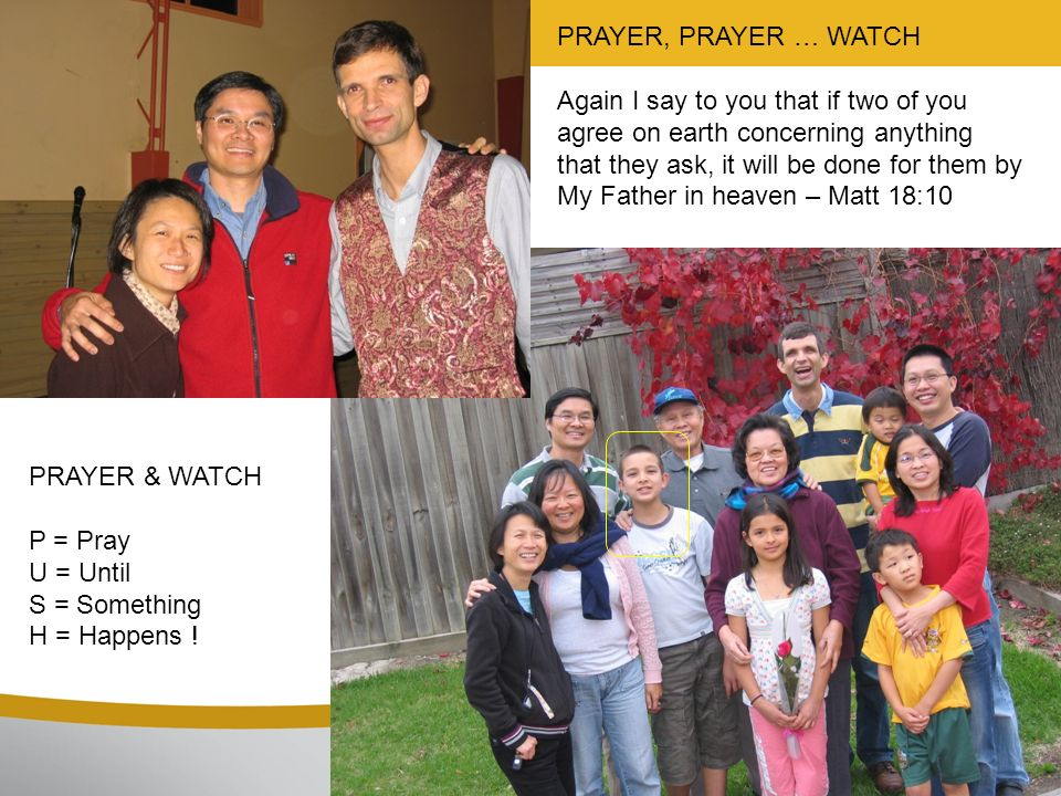 PRAYER, PRAYER … WATCH