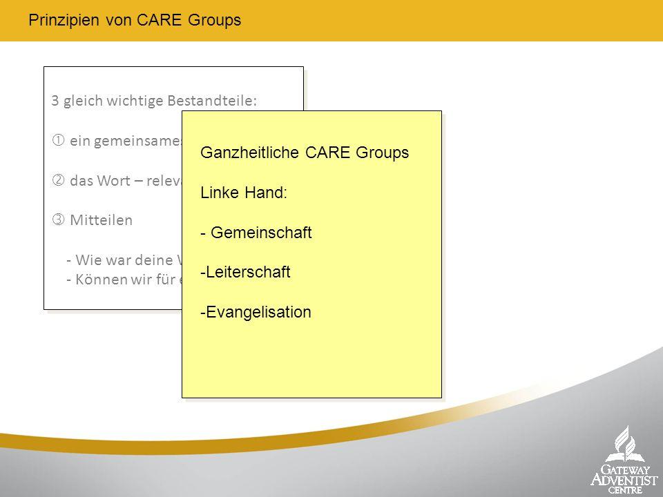 Prinzipien von CARE Groups