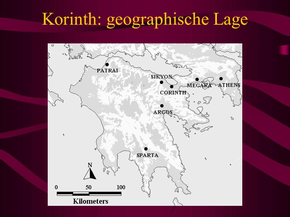 Korinth: geographische Lage