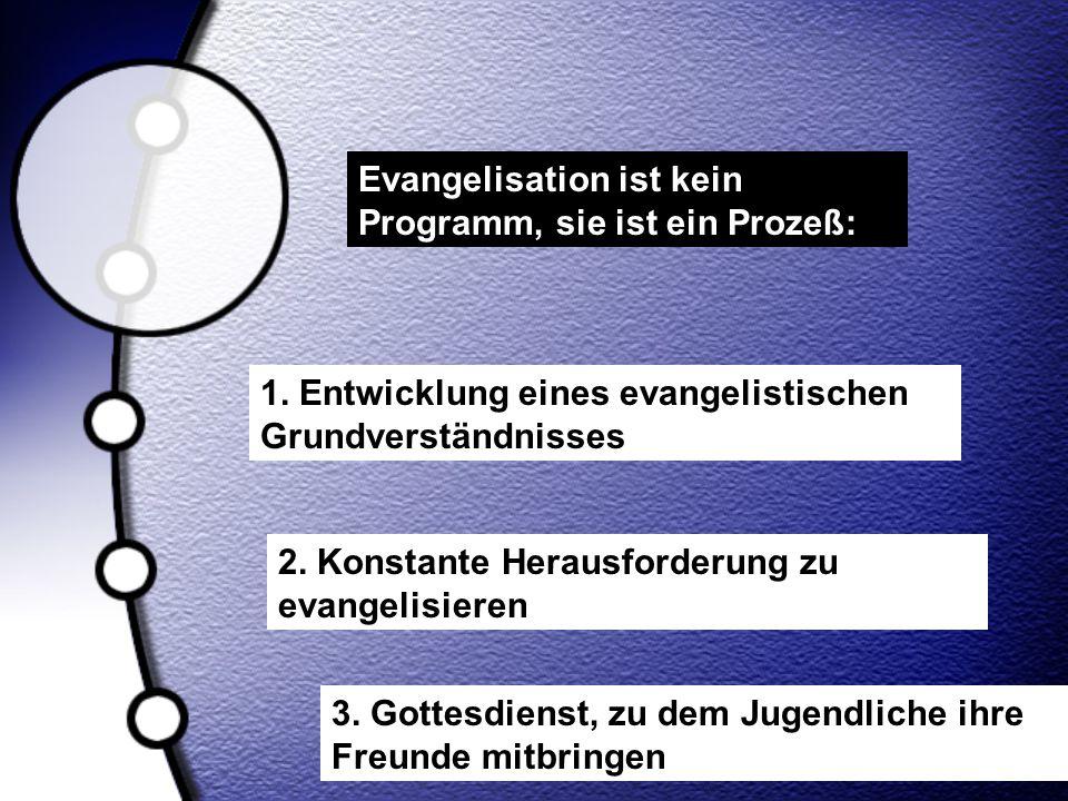 Evangelisation ist kein Programm, sie ist ein Prozeß: