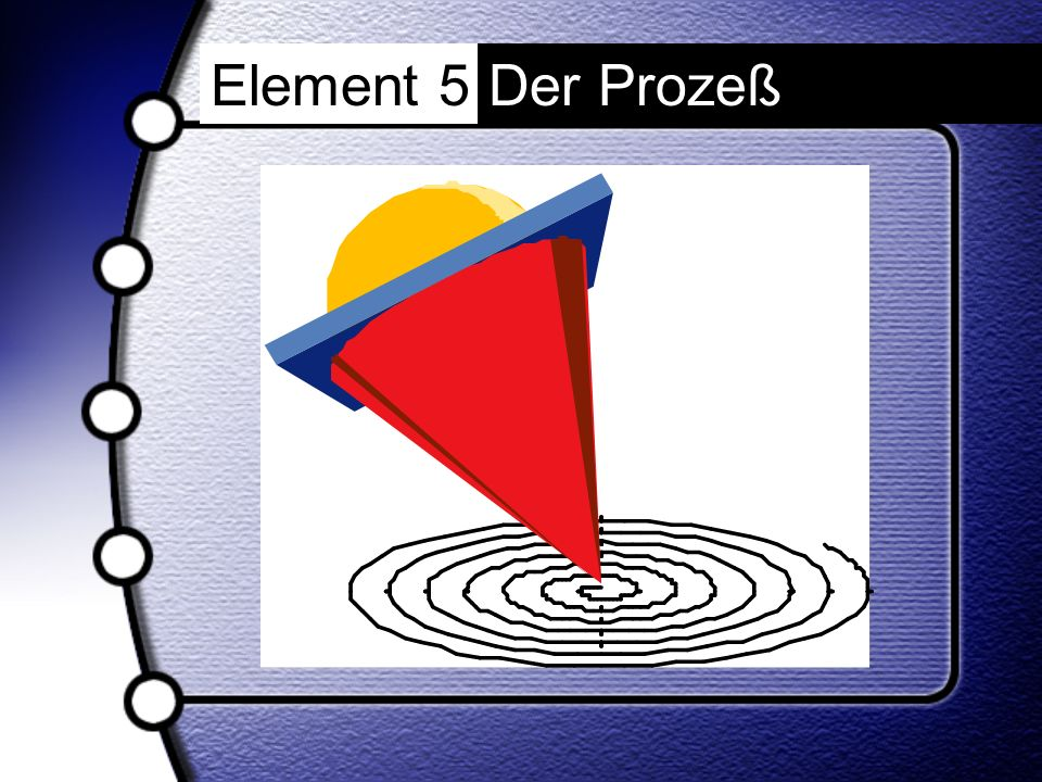 Element 5 Der Prozeß
