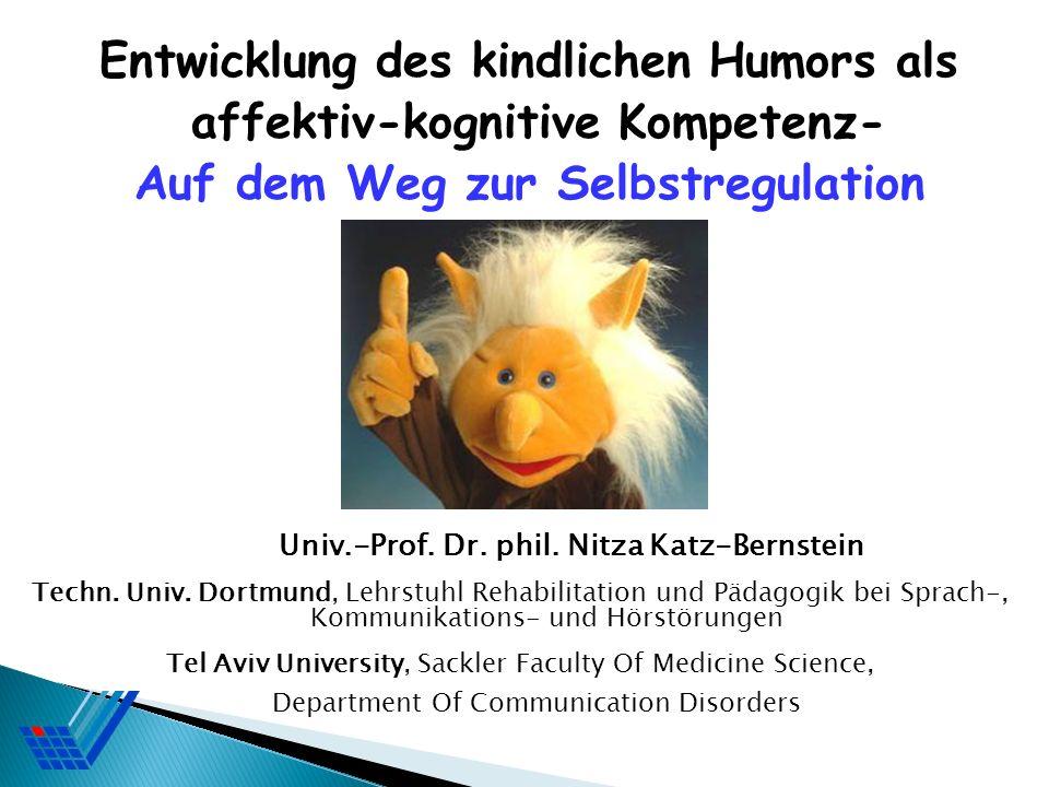 Entwicklung des kindlichen Humors als affektiv-kognitive Kompetenz-