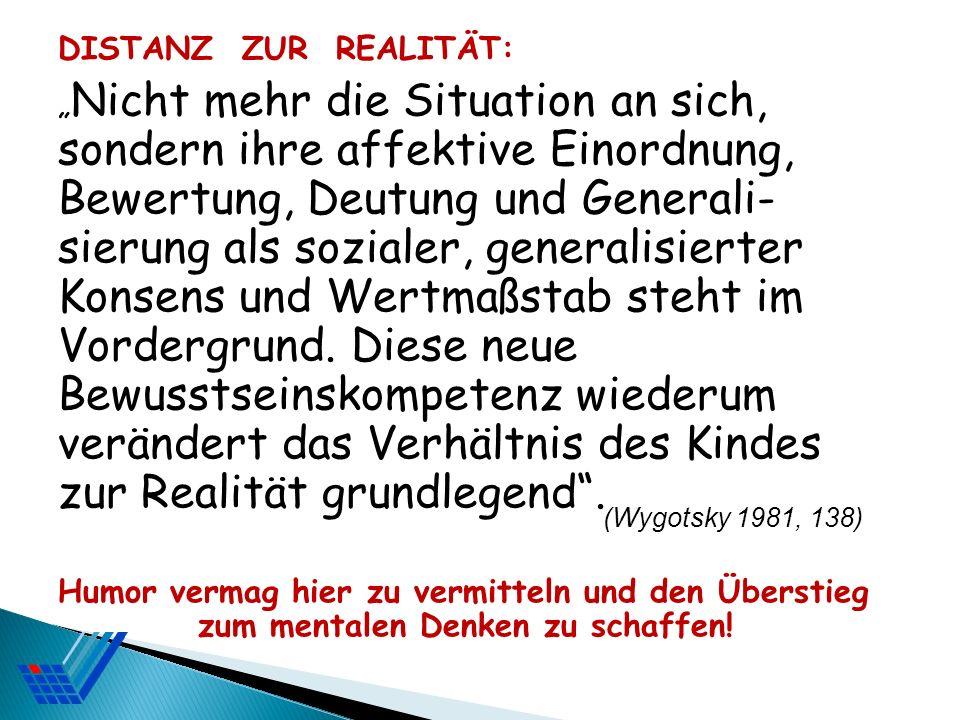 DISTANZ ZUR REALITÄT: