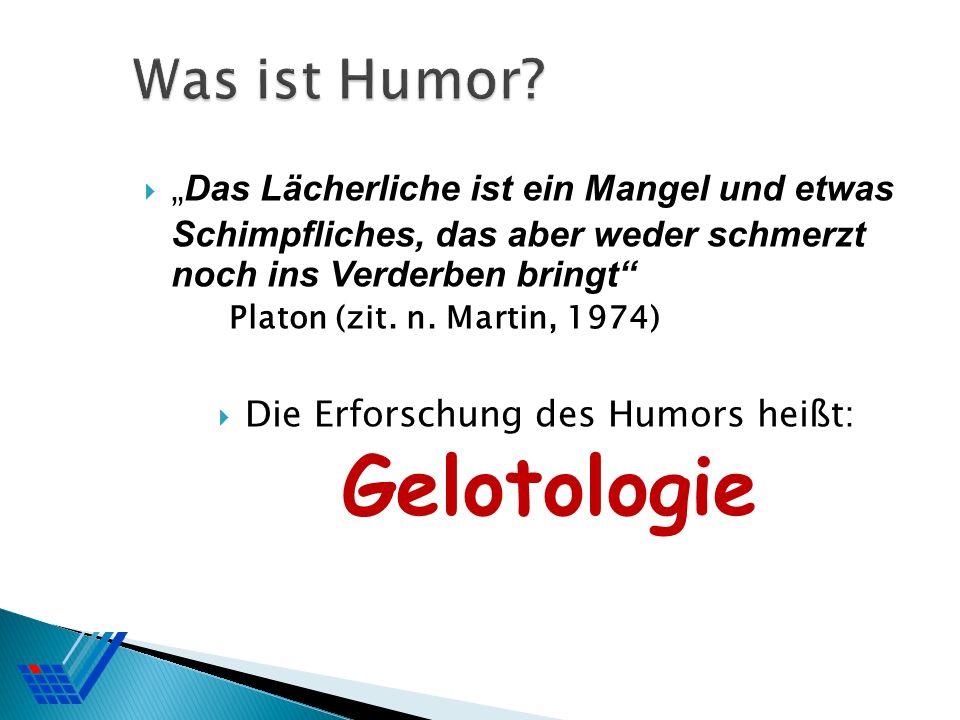 Die Erforschung des Humors heißt: Gelotologie