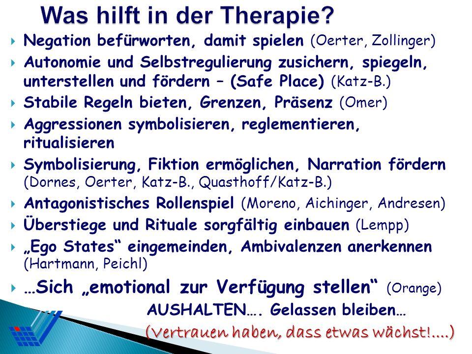 Was hilft in der Therapie
