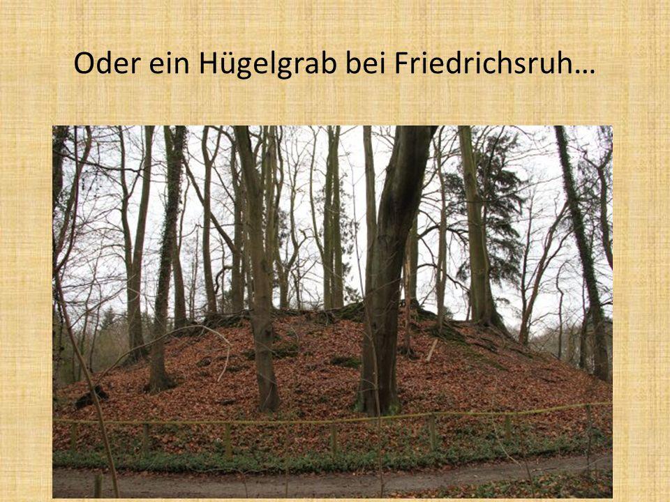 Oder ein Hügelgrab bei Friedrichsruh…