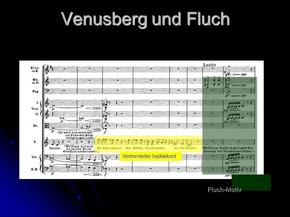 Venusberg und Fluch Verminderter Septakkord Fluch-Motiv