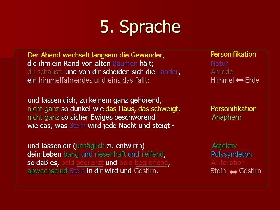 5. Sprache Personifikation