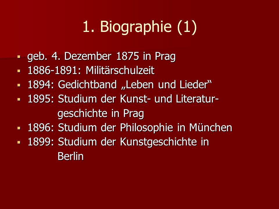 1. Biographie (1) geb. 4. Dezember 1875 in Prag