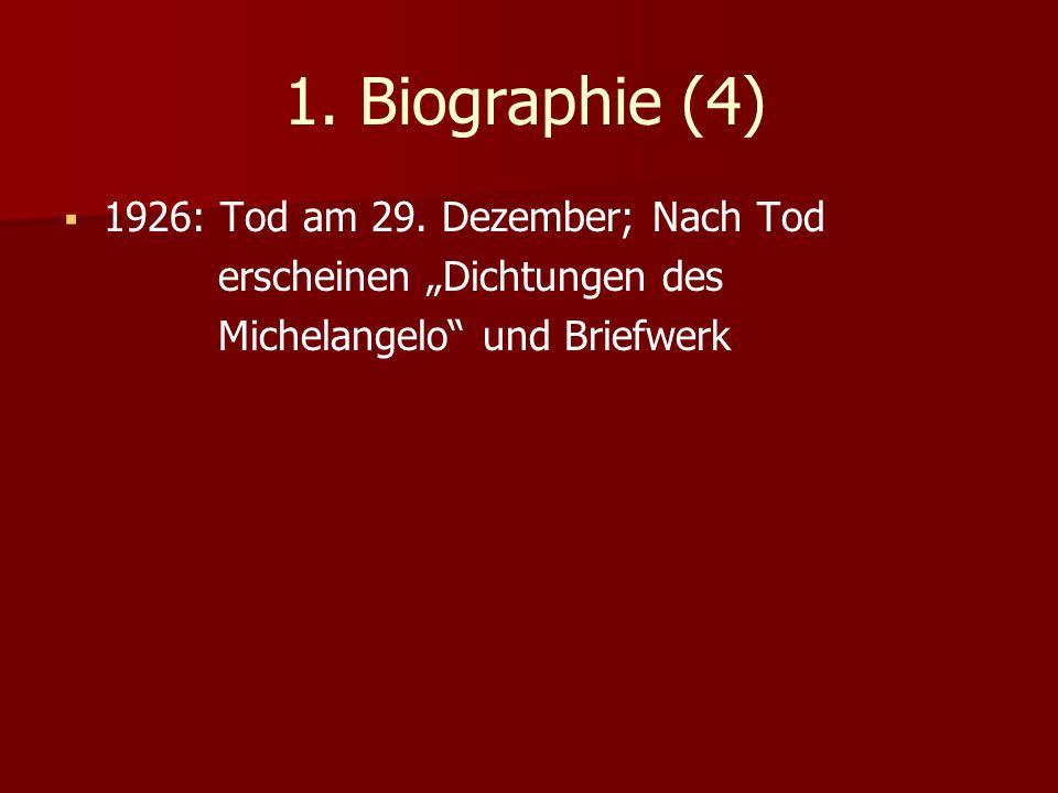 1. Biographie (4) 1926: Tod am 29. Dezember; Nach Tod