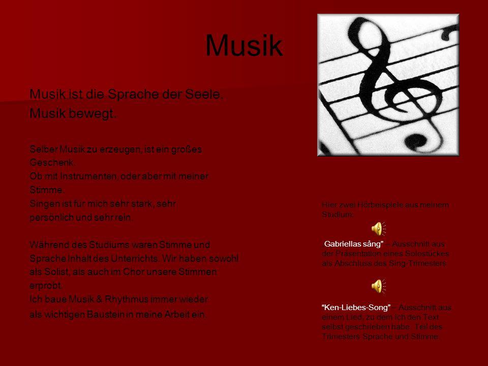 Musik Musik ist die Sprache der Seele. Musik bewegt.