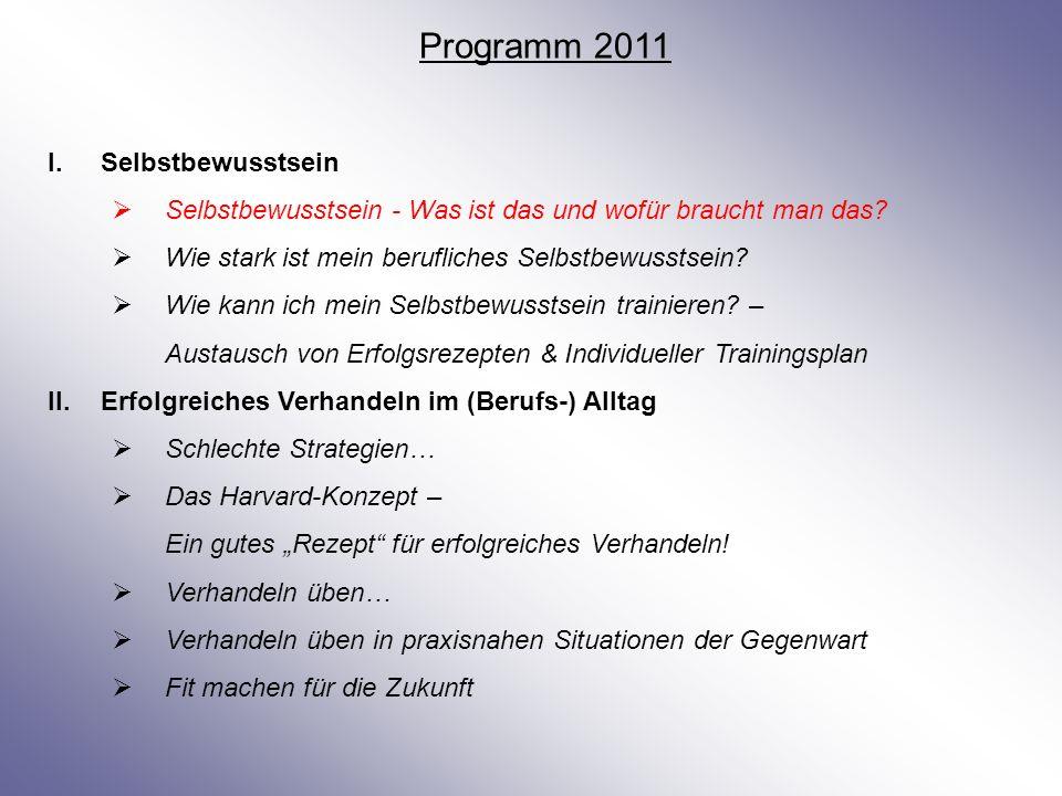 Programm 2011 Selbstbewusstsein