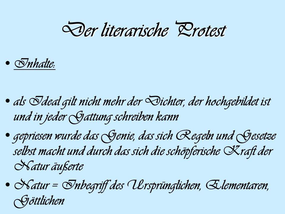 Der literarische Protest