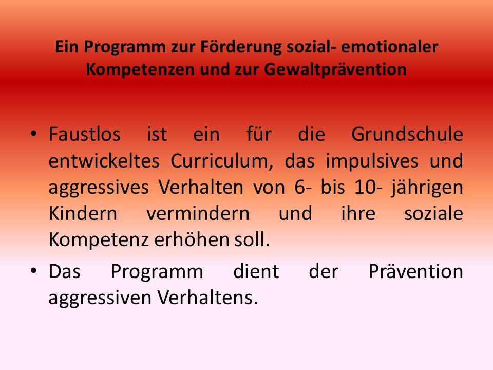 Das Programm dient der Prävention aggressiven Verhaltens.