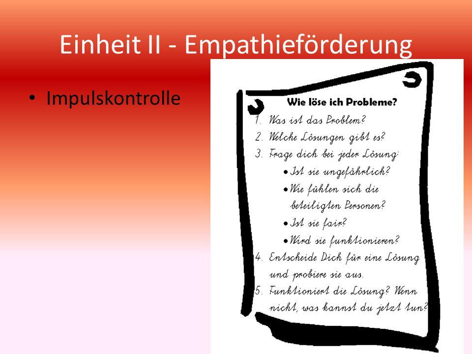Einheit II - Empathieförderung