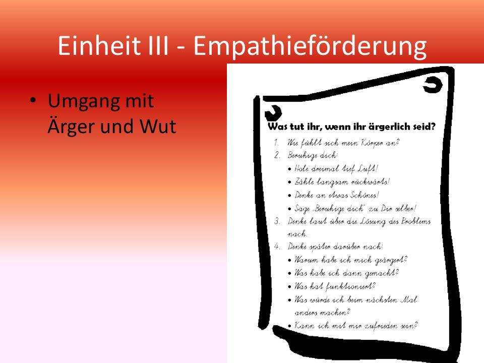 Einheit III - Empathieförderung