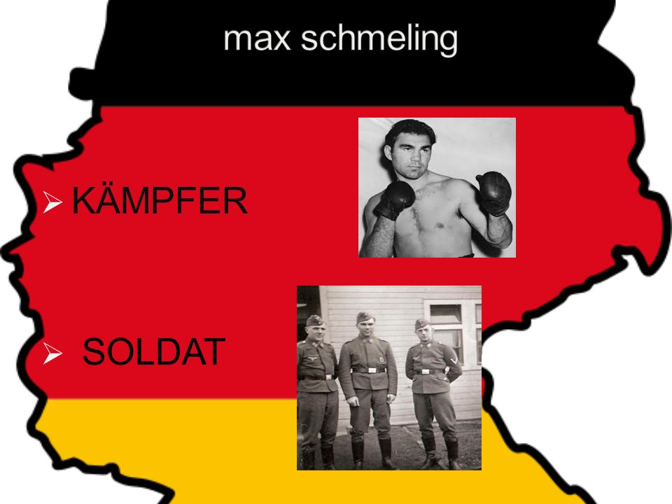 max schmeling MAX SCHMELING KÄMPFER SOLDAT