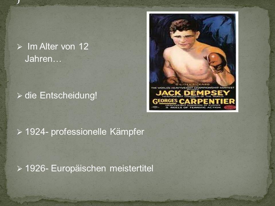 J Im Alter von 12 Jahren… die Entscheidung!