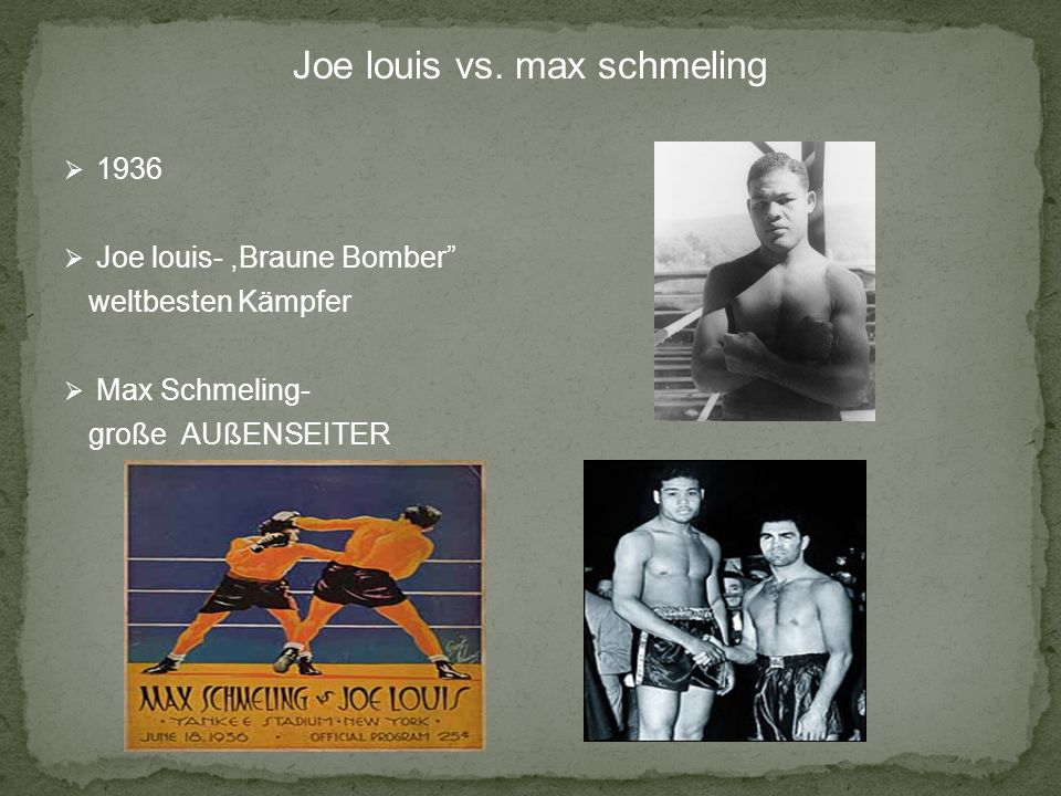 Joe louis vs. max schmeling