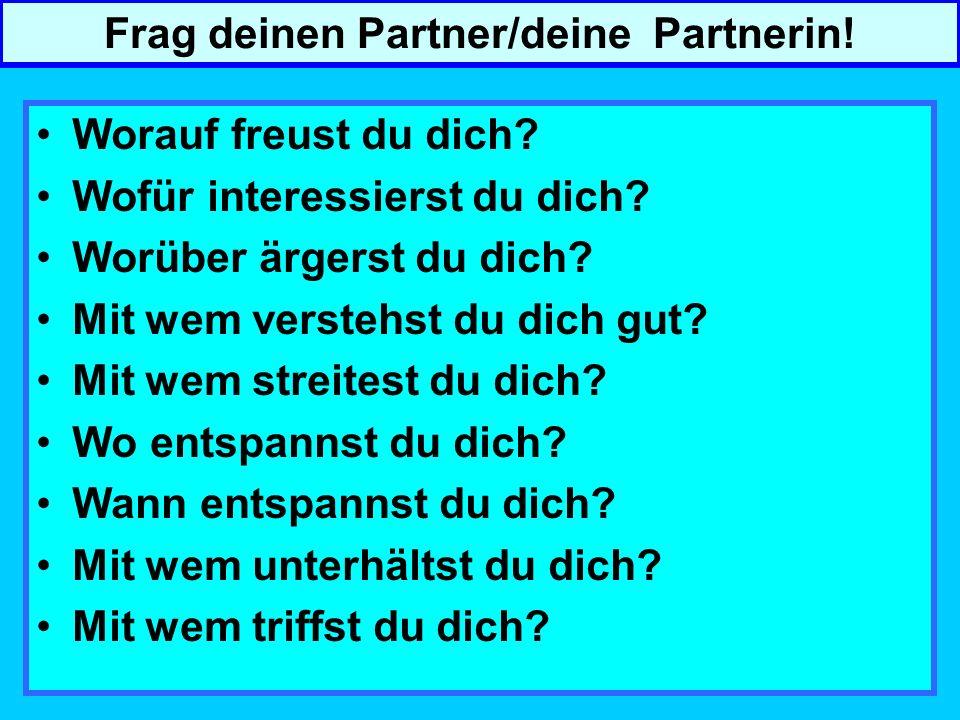 Frag deinen Partner/deine Partnerin!