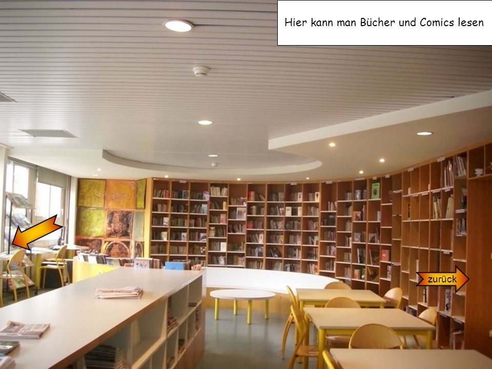 Hier kann man Bücher und Comics lesen
