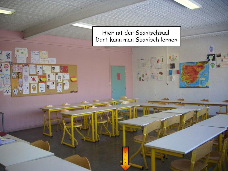 Hier ist der Spanischsaal Dort kann man Spanisch lernen