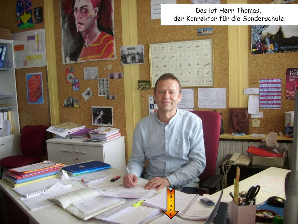 der Konrektor für die Sonderschule.