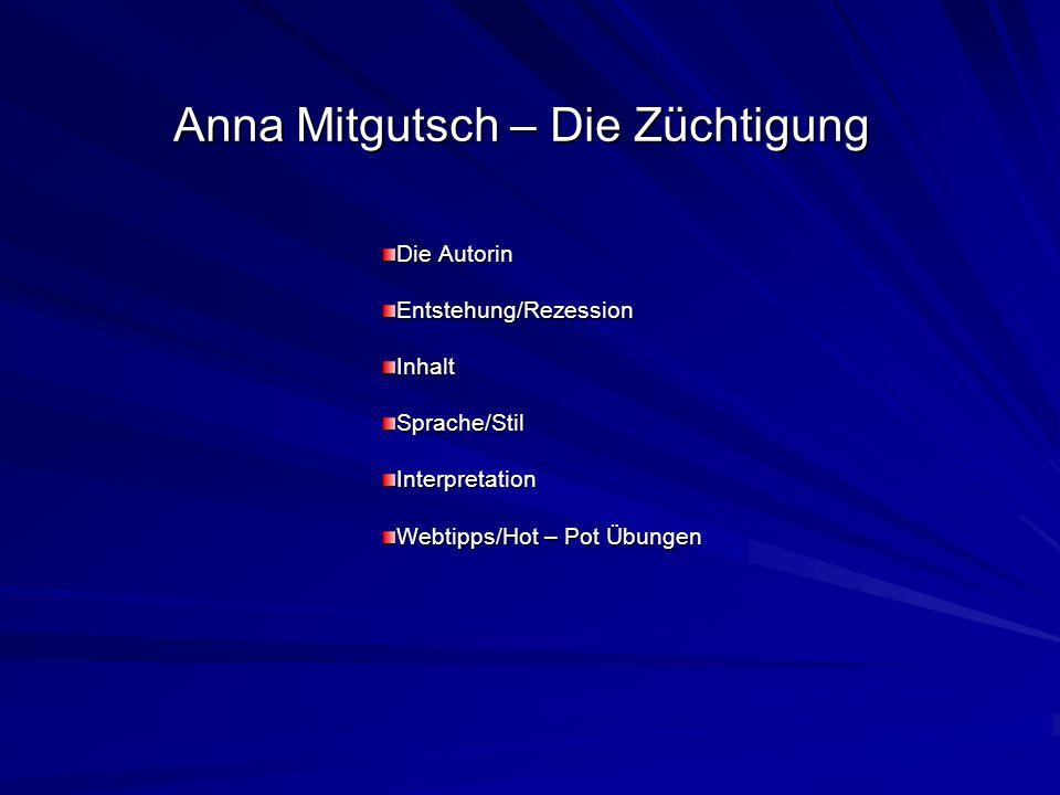 Anna Mitgutsch – Die Züchtigung