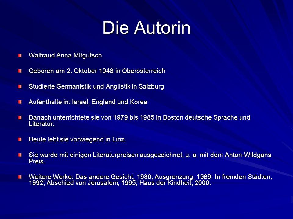 Die Autorin Waltraud Anna Mitgutsch
