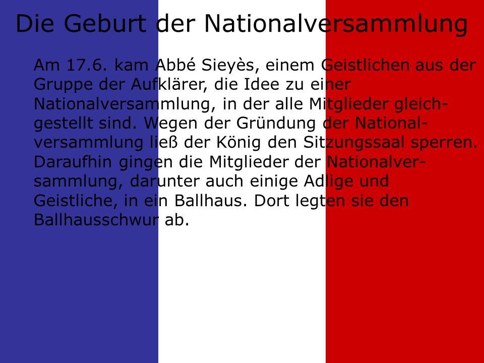 Die Geburt der Nationalversammlung