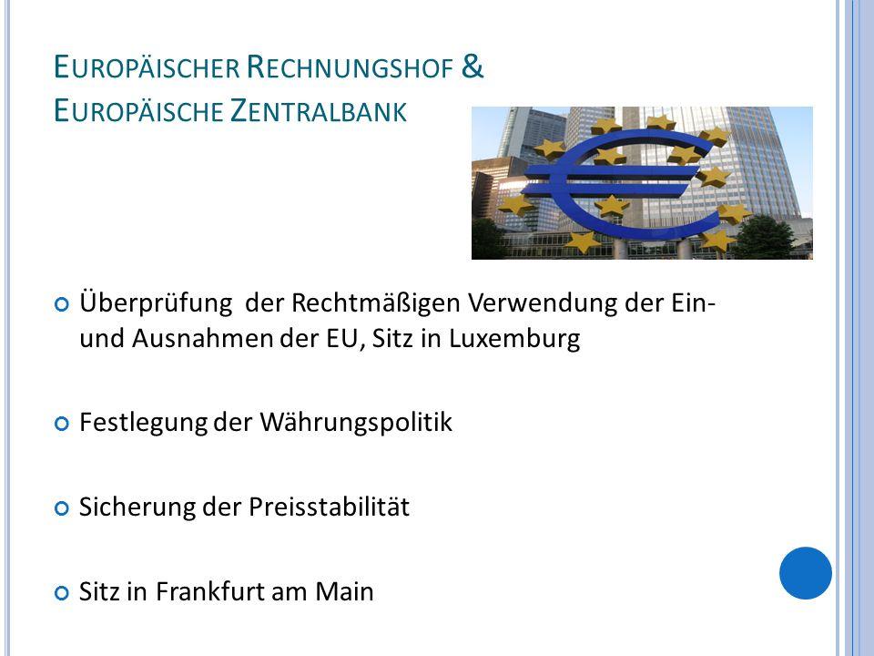 Europäischer Rechnungshof & Europäische Zentralbank
