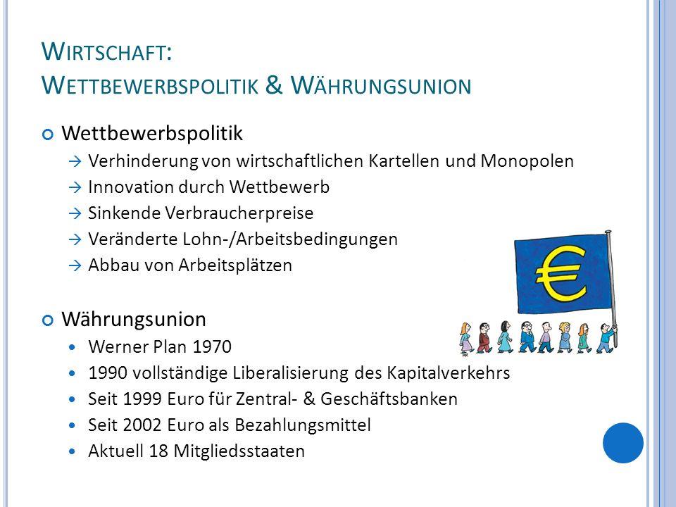 Wirtschaft: Wettbewerbspolitik & Währungsunion