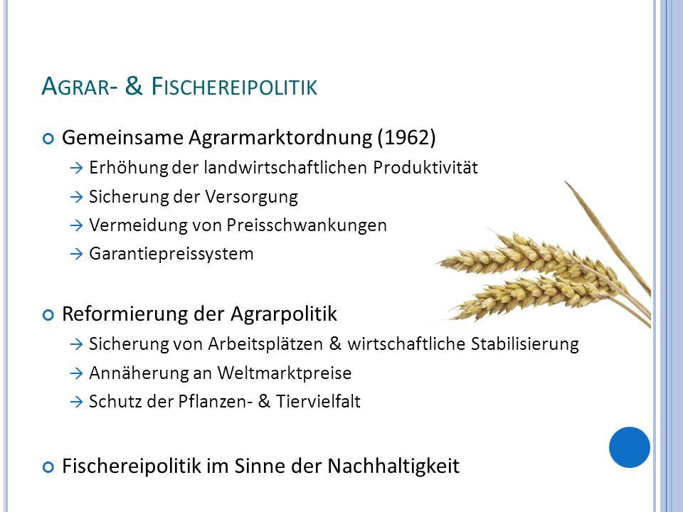 Agrar- & Fischereipolitik