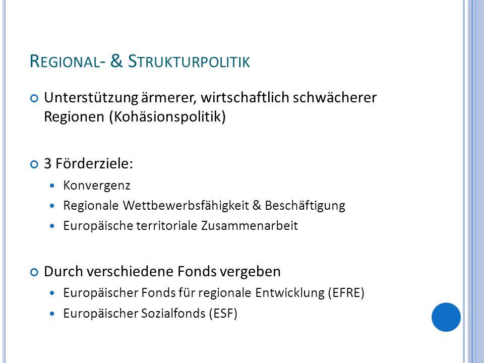 Regional- & Strukturpolitik