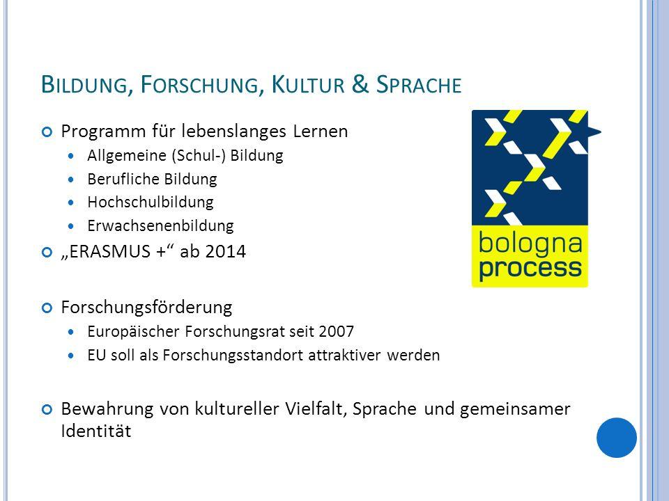 Bildung, Forschung, Kultur & Sprache