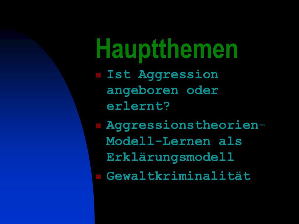 Hauptthemen Ist Aggression angeboren oder erlernt
