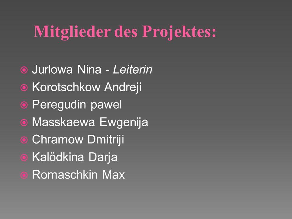 Mitglieder des Projektes: