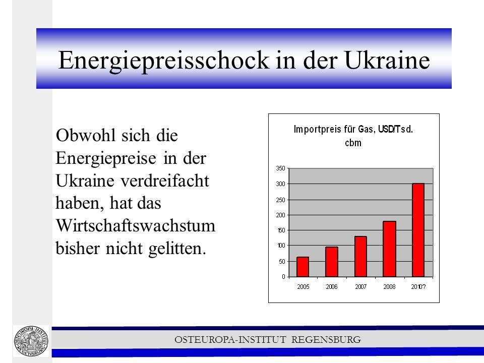Energiepreisschock in der Ukraine