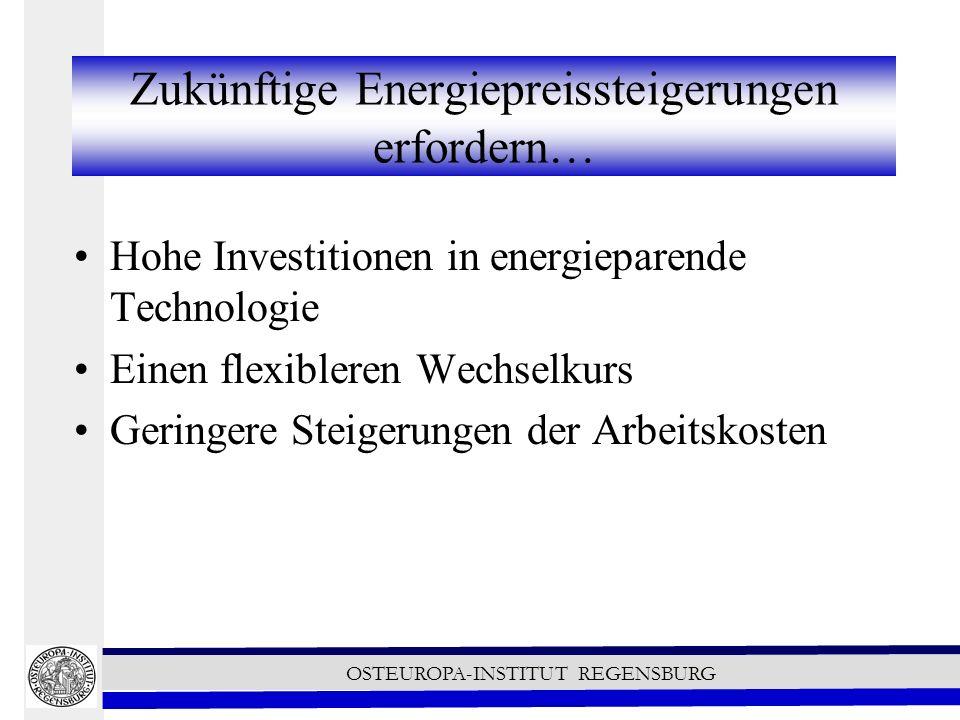 Zukünftige Energiepreissteigerungen erfordern…