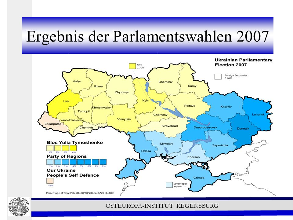 Ergebnis der Parlamentswahlen 2007