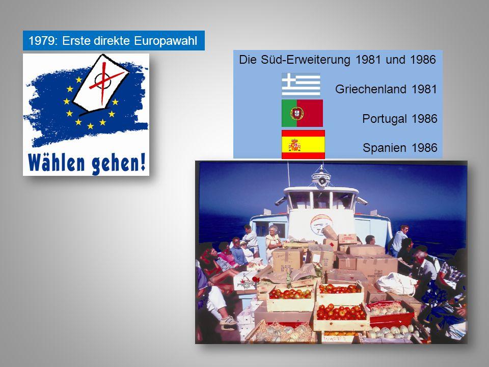 Die Süd-Erweiterung 1981 und 1986